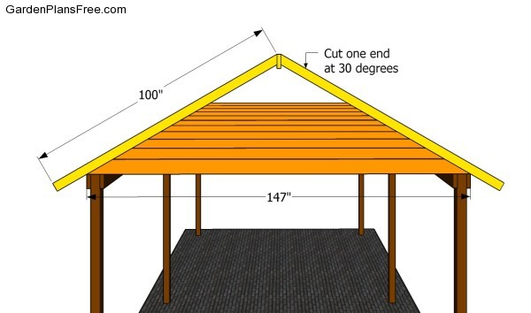 Building the roof structure