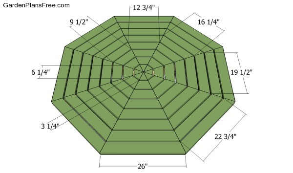 Octagon picnic table plans free | Free Garden Plans - How ...