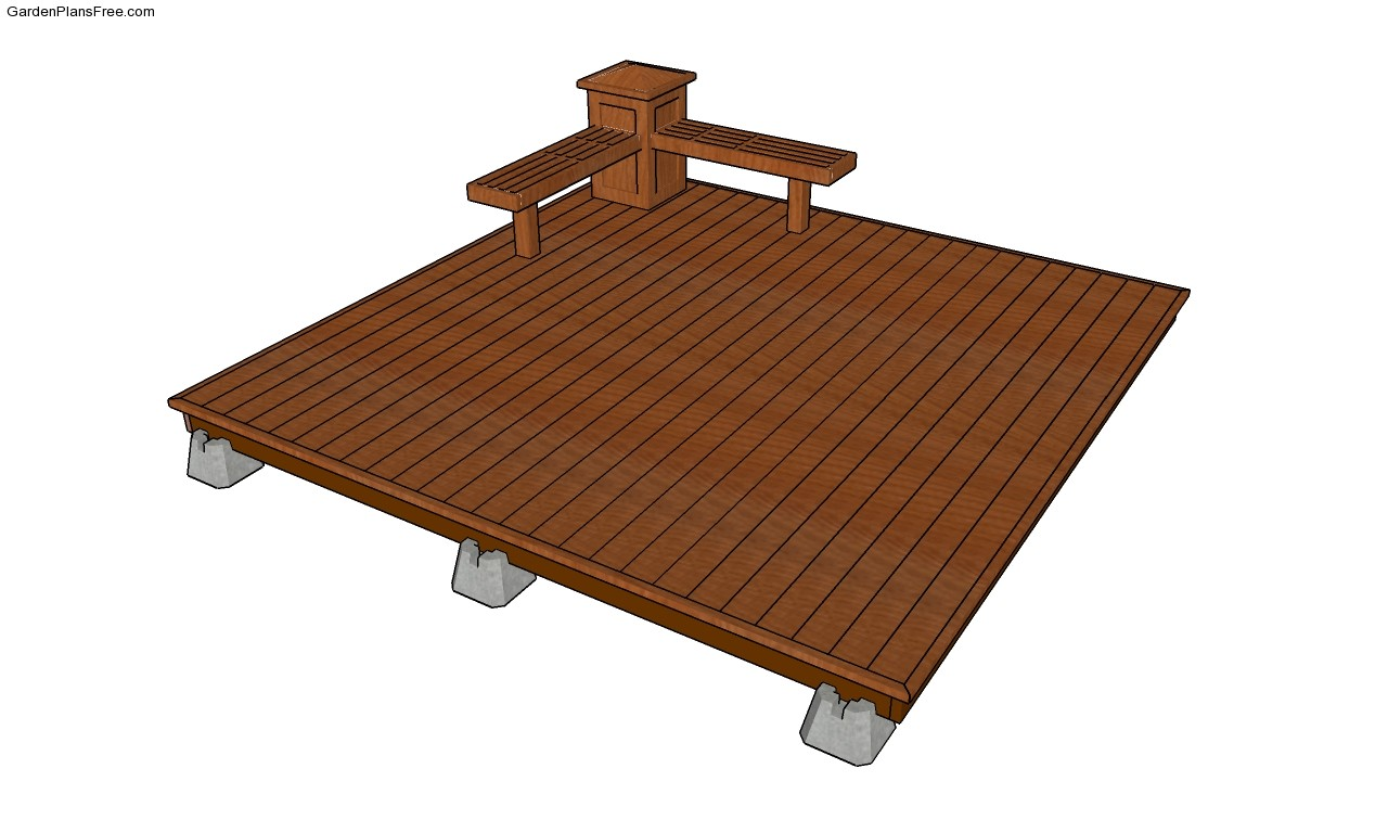 Deck plans free for Patio plans free