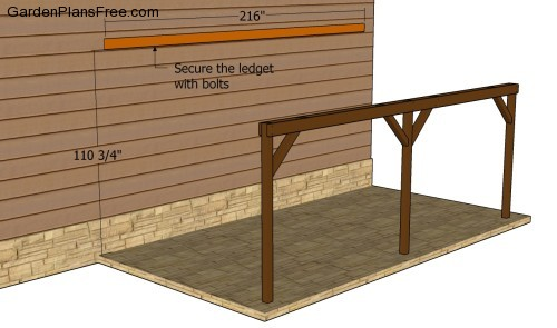 Woodworking plans plans carport attached pdf plans for Attached carport plans free