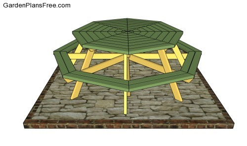 Octagon picnic table plans free | Free Garden Plans - How to build ...