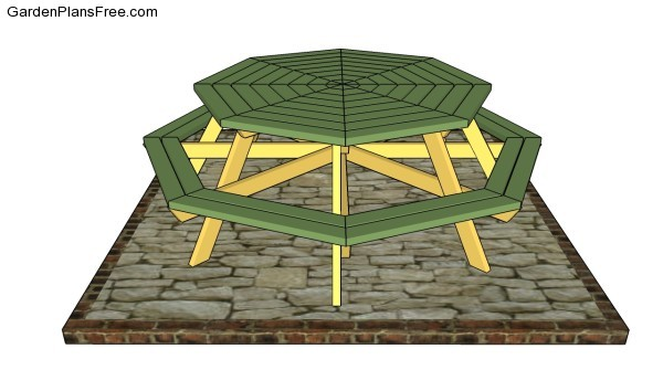 Octagon bench plans free