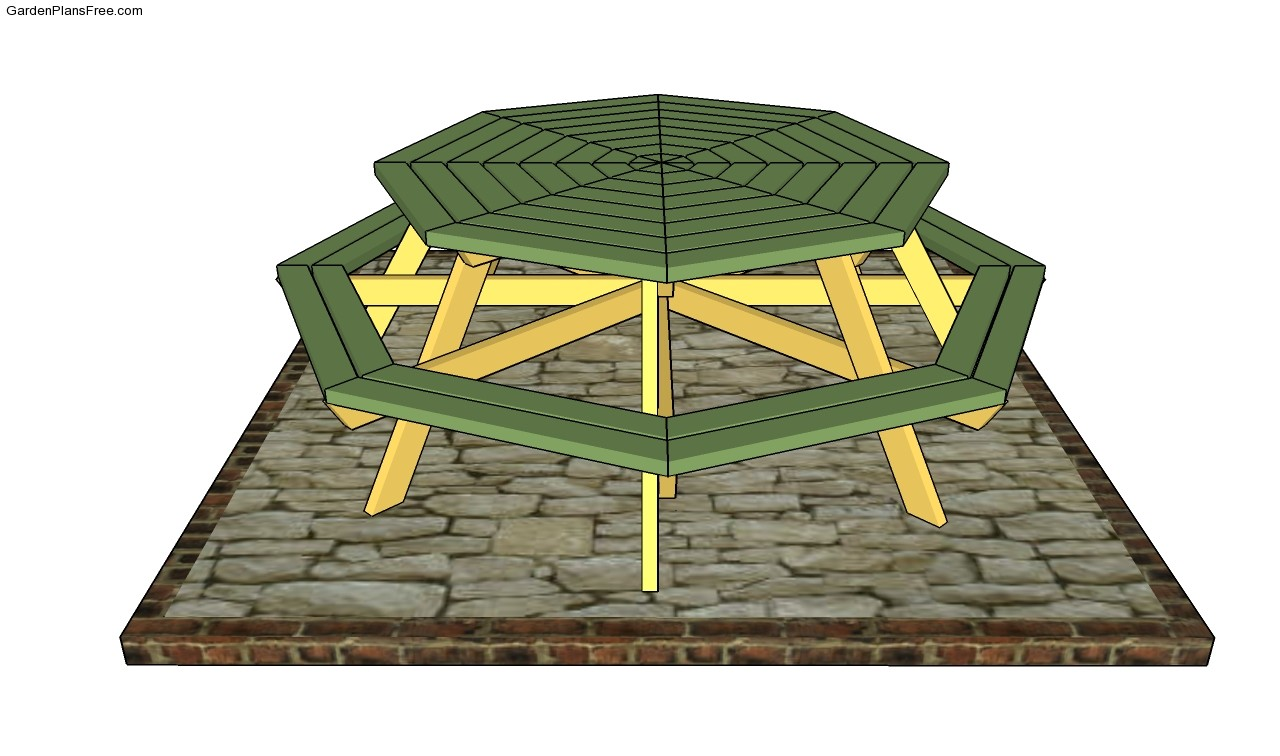 ... Designs Hexagon picnic table plans Octagon Picnic Table Plans Free