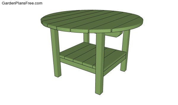 Patio Table Plans | Free Garden Plans - How to build garden projects