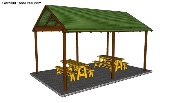 Picnic table shelter plans