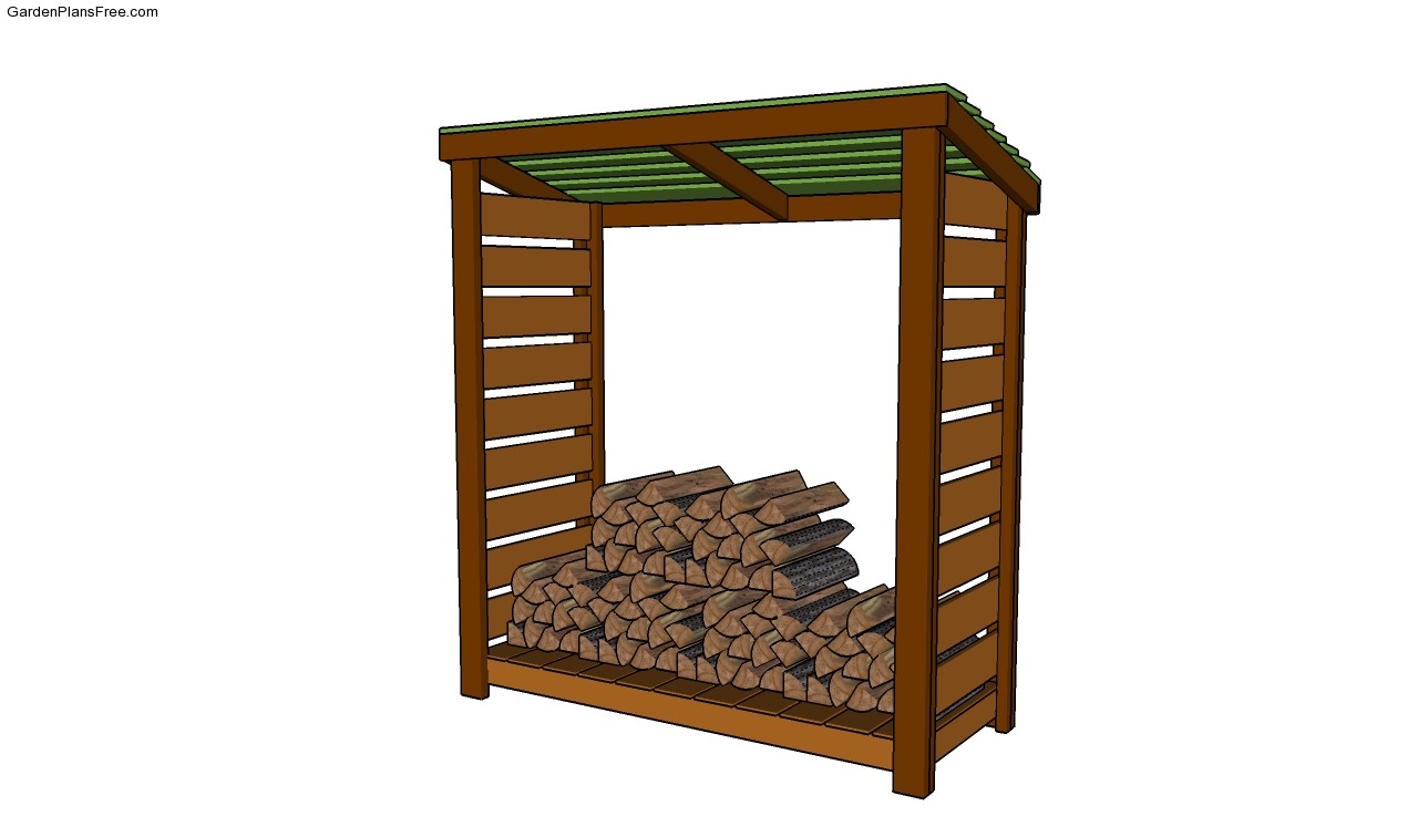 Shed Roof 9 Free Firewood Storage Shed Plans Firewood Rack Plans