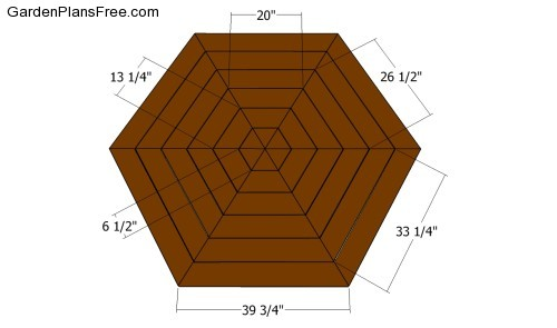 how to cut wood to make a hexagon cone