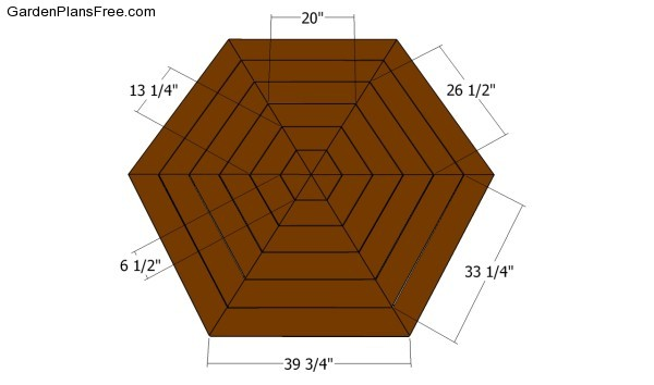 Hexagon picnic table plans | Free Garden Plans - How to ...