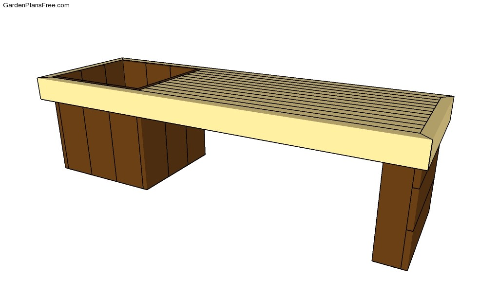 Wood Shop Garden bench planter plans