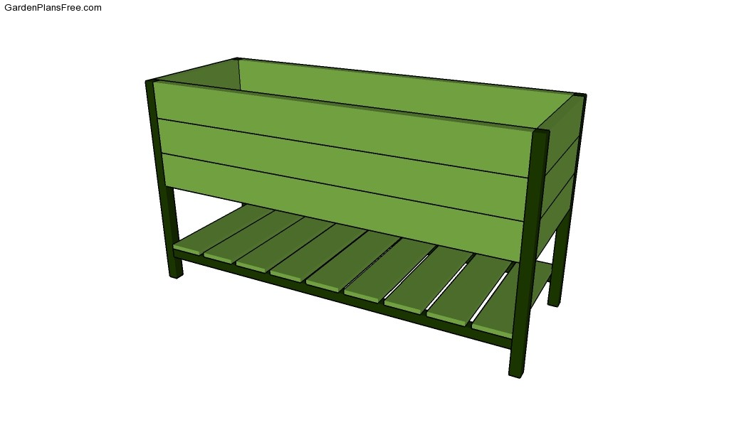 Herb planter box planter free garden plans how to for Planter box garden designs