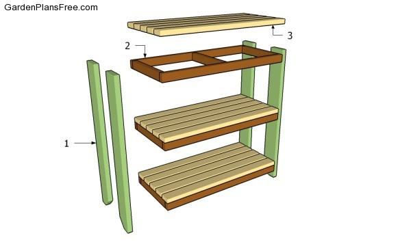 Building garden shelves