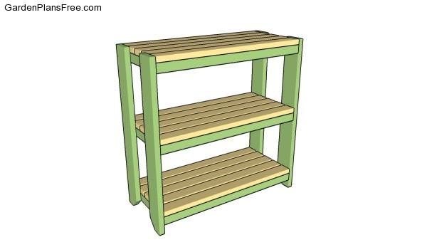 Garden shelves plans