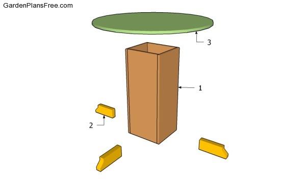 Building a pedestal table