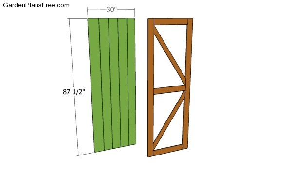 How To Build A Shed Door Free Garden Plans How To