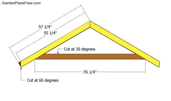Garden shed roof plans free garden plans how to build for Premade roof trusses