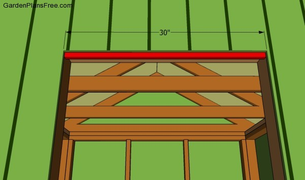 Fitting the door stop
