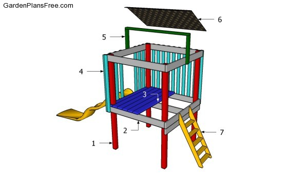 Backyard fort plans free garden plans how to build for Play yard plans