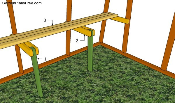 Building a greenhouse table