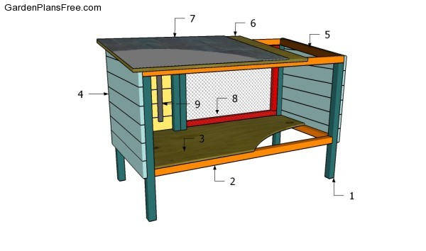 Free building plans outdoor rabbit hutch for How to build a rabbit hutch plans free