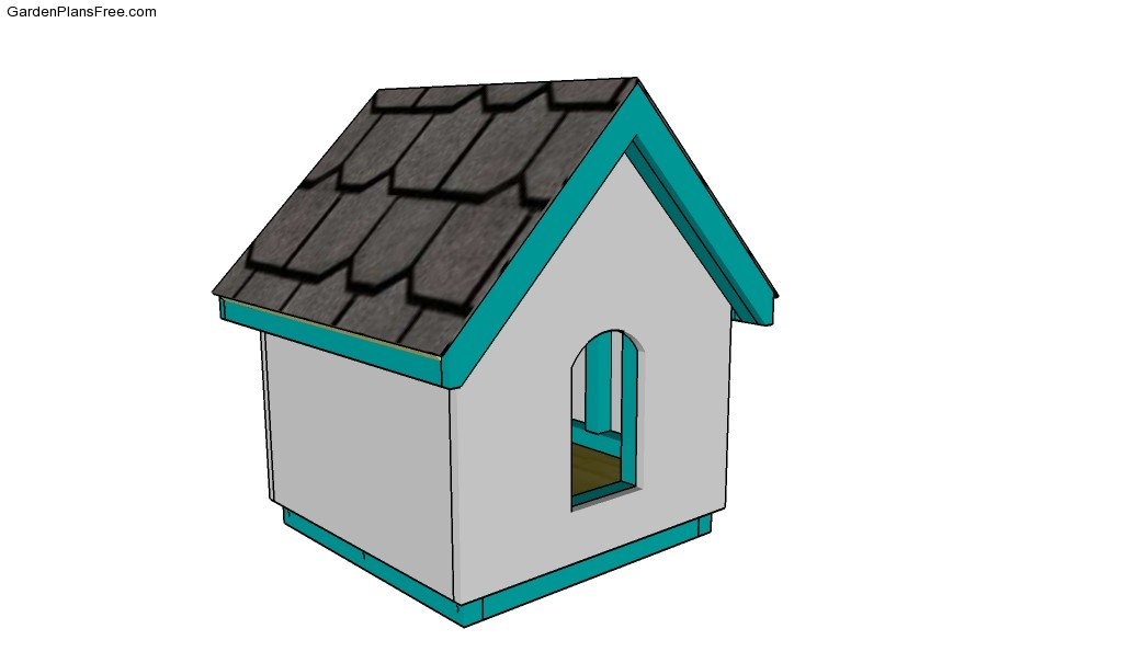 Garden playhouse plans free garden plans how to build Lean to dog house plans