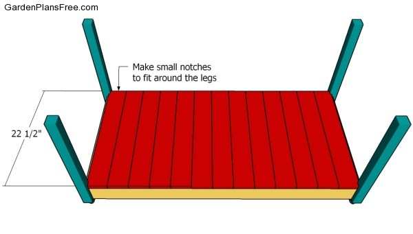Attaching the bottom slats