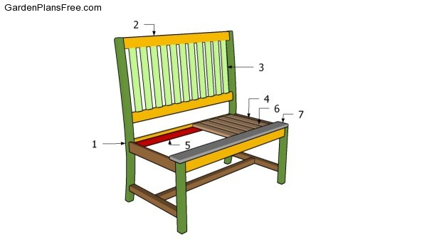 build a park bench plans download how build comfortable 2 4 bench side ...