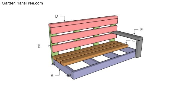 Free porch swing plans free garden plans how to build for Bench swing frame plans