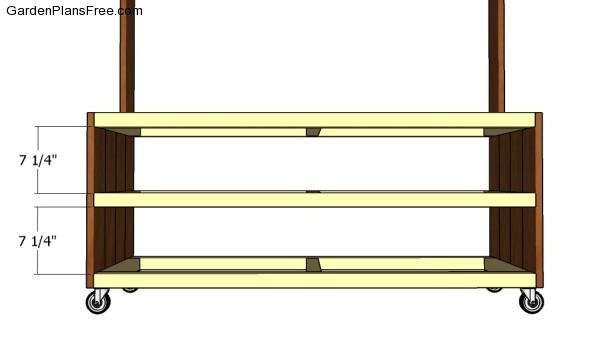Assembling the frame of the lemonade stand
