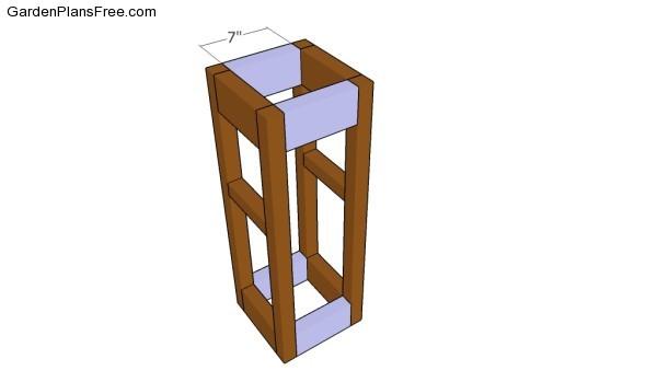 Assembling the planter frame