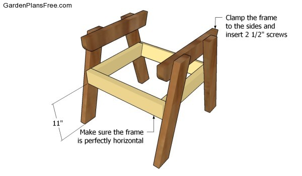 Assembling the frame of the chair