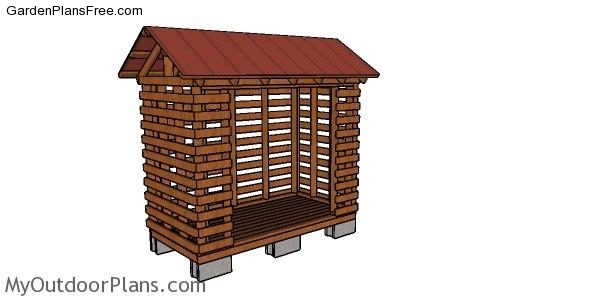 16 Free Firewood Storage Shed Plans