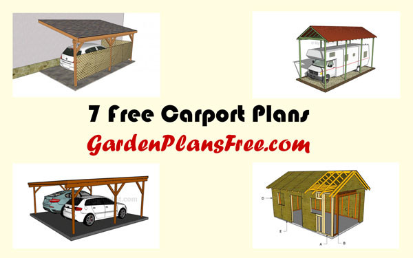 7 free carport plans free garden plans how to build for Attached carport plans free