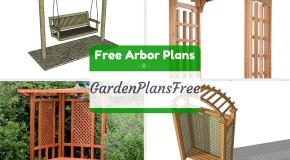 8 free arbor plans