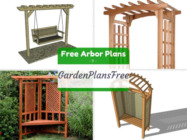 8 free arbor plans Free Garden Plans How to build