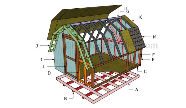 12 free shed plans free garden plans how to build for Diy barn plans