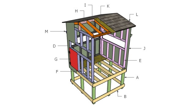 5 free deer stand plans free garden plans how to build for Building deer blind windows
