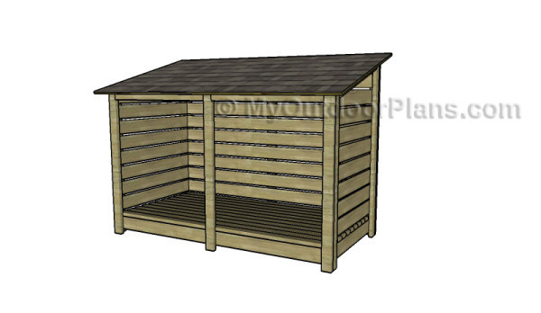 9 free firewood storage shed plans free garden plans for Wood shed plans