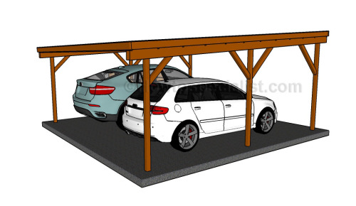 2 Car Metal Carport Flat : Free carport plans garden how to build