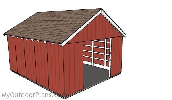 Free-pole-barn-plans