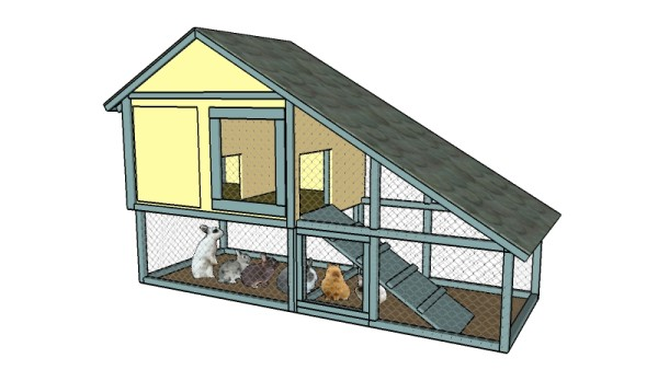 Free Rabbit Hutch Plans | Free Garden Plans - How to build garden ...