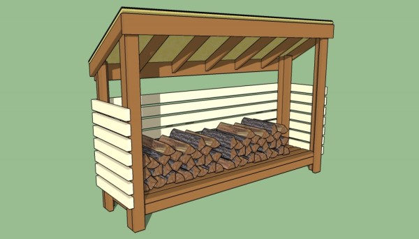 Free Firewood Storage Shed Plans | Free Garden Plans - How to build ...