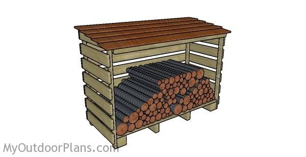 how to build a log storage shed