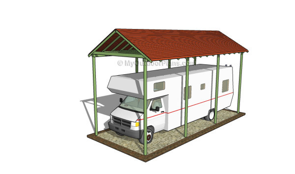 7 free carport plans free garden plans how to build for Rv storage plans