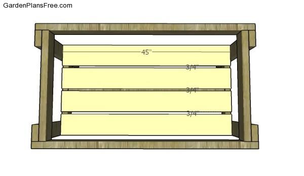 Fitting the bottom shelves