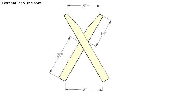 Assembling the X shaped legs