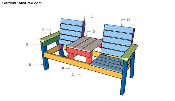 Double Chair Bench Plans | Free Garden Plans - How to build garden ...