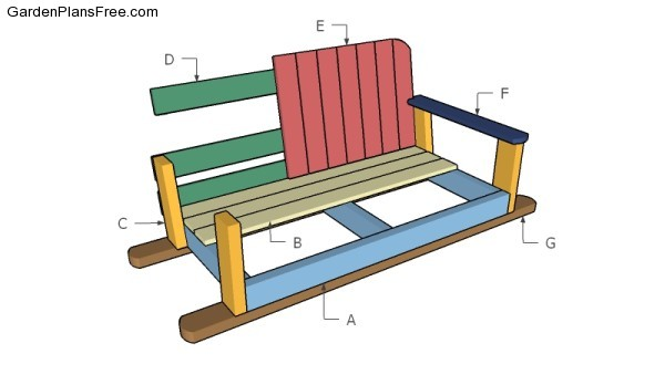 Swing bench plans free garden plans how to build for Bench swing frame plans