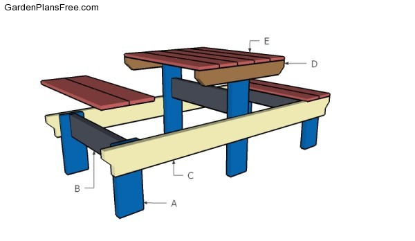 Building a two person picnic table