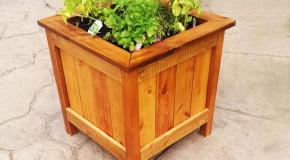 DIY Cedar Planter Box