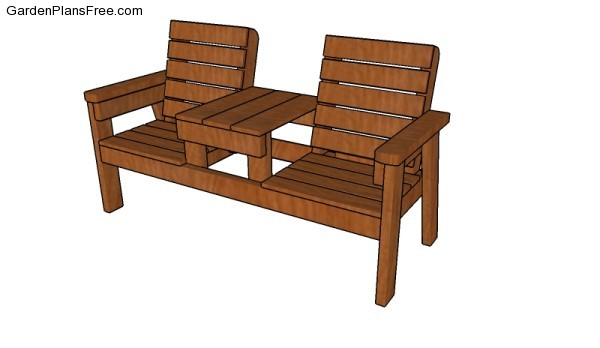 Double Chair Bench Plans Free Garden Plans How To